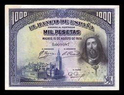 España Spain 1000 Pesetas San Fernando 1928 Pick 78 EBC- AXF - 1000 Peseten
