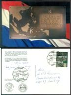 Nederland 1985 Speciale Kaart 40 Jaar Bevrijding 2de Wereldoorlog Ned. Indie - Steuermarken