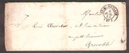 LSC - 3 Juillet 1854 - St Marcellin Pour Grenoble - Timbre ôté De La Lettre - 1849-1876: Klassik