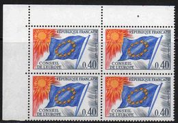 FRANCE : Service N° 31 ** Bloc De 4 Coin De Feuille - PRIX FIXE : 30 % De La Cote - - Neufs
