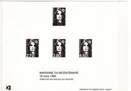 """PIA  - FRAN - 1996 : Prova Di Stampa Dei Francobollo """"Marianna Del Bicentenario"""" """""""" - (Yv  2807+3005-07 ) - Blocs & Feuillets"""