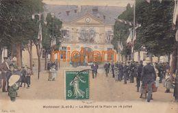 CPA  78   MONTESSON  La Mairie  Et La Place  Un 14 Juillet - Montesson