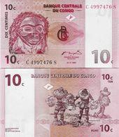Congo DR 1997 - 10 Centimes - Pick 82 UNC - Congo