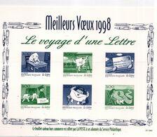 """PIA  - FRAN - 1997 : Prova Di Stampa Deila Serie""""Giornata Della Lettera"""" - (Yv 3060-65 ) - Blocs & Feuillets"""