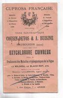 Catalogue Avec Attestations Des Ets COUSIN-DEVOS & A. BUISINE à HAUBOURDIN ( Nord ) Traitement De La Vigne - Frankreich