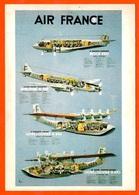 """CPSM CPM Aviation Affichiste N. GERALE Repro Affiche AIR FRANCE """"Les 4 Avions"""" ° Editions Arno - Non Classés"""