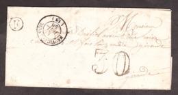 LSC - Juillet 1856 - Boîte Rurale F - Neuvic D'Ussel Pour Laive ? (canton De Ste Foy La Grande) - Port Dû Taxe 30 - 1849-1876: Période Classique