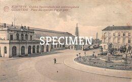 Gulden Sporenplaats Met Spoorwegstatie - Courtrai - Kortrijk - Kortrijk