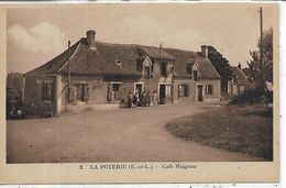 28, Eure Et Loir, LA POTERIE, Café Maignan, Scan Recto-Verso - Francia