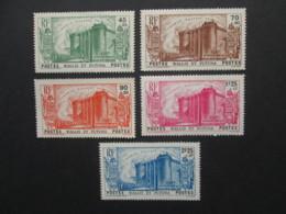WALLIS ET FUTUNA 5 Timbres 1939 YT 72 à 76 Révolution Neufs Sans Gomme MNG Stamps Colonies Françaises France - Wallis And Futuna