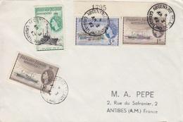 Lettre Des Falkland Dependencies N° 51, 52 X 2, 56 (Navires), Obl. Argentine Is. Le 3 AP 62 - Falkland