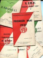 Lot De Fascicules De La CGT -  Années 1937-1938 - Politique