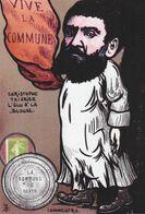 CPM Timbre Monnaie Tirage Limité Numéroté Signé En 30 Ex. La Commune De Paris Christophe THIVRIER - Münzen (Abb.)