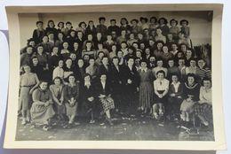 Grande Photographie 1949 Nombreuses Jeunes Filles école A. Fortun ?? Coupe Couture Quimper Andréa Péron Maria Cloarec - Identifizierten Personen