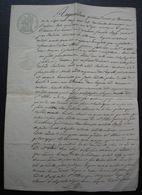 Monségur 1828 Gironde Copie D'un Acte De 1709 Et Affaire André Beau Cabaretier Contre La Femme De Jean Lagarde, Marchand - Manuscritos