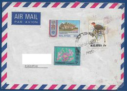 MALAYSIA  POSTAL USED AIRMAIL COVER TO PAKISTAN - Malaysia (1964-...)