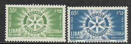 Lebanon   1955  Sc#C198-9  Rotary International Set Of 2 MLH  2016 Scott Value $4 - Lebanon