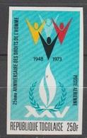 Togo 1973  PA 213 25° Anniversaire Des Droits De L'homme  Imperf ND MNH - Togo (1960-...)