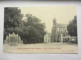 Cpa SAINT GERMAIN LES CORBEIL (91) Entrée Du Château Et L'église - Autres Communes