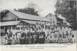 BRAZZAVILLE: Mgr Guichard Et Les Professeurs Des Séminaristes Et Des élèves Catéchistes -  Col. Augouard 12 - Brazzaville