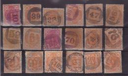 FINLANDE : 18 EX . DIFFERENTS . OBL CHIFFRE DANS UN CERCLE . 1889/95 . TB - Gebraucht