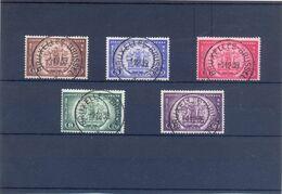 Nrs. TR205/TR209 PRACHTIG Gestempeld 25 Côte - 1923-1941
