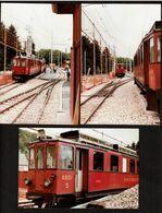 3 Photos Originales - 15 Cm X 6 Cm - Train ABDe 4/14 - Nyon-St Cergue - Voir Scan - Eisenbahnen