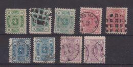 FINLANDE : 9 EX DIVERS . * Et OBL . 1875/81 . - 1856-1917 Russian Government