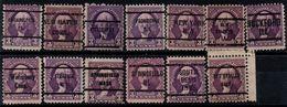 USA 1932, Precancels / Preobliteres, 13 Different, Washington - Vorausentwertungen