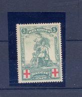 Nr. 126-V1 Postgaaf ** MNH PRACHTIG 85 Côte Rode Rechthoek (centraal Op De Zegel) - Errors And Oddities