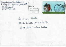 Portugal 1998 , ATM , Museu Das Comunicações , Carriage ,  Mechanical Postmark INDAGUE... , Lisboa 2000 - Automatenmarken (ATM/Frama)