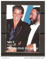 NIGER - 1997 LUCIANO PAVAROTTI E LADY DIANA Nuovo ** MNH - Singers