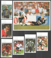 A183 LESOTHO SPORT FOOTBALL WORLD CUP STARS SHEARER BERGKAMP GIGGS SET+BL MNH - Altri