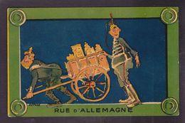 CPA Anti Kaiser Non Circulé Plaque De Rue Non Circulé Satirique Caricature - Satiriques