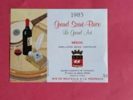 MEDOC ETIQUETTE GRAND SAINT- BRICE LE GRAND ART 1985                            /13/08/20 - Bordeaux