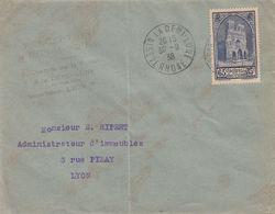 SEUL SUR LETTRE. N° 399. SURTAXE REIMS. TASSIN POUR LYON - 1921-1960: Moderne