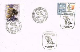37357. Carta BARCELONA 1984. Exposicion Filatelica De La Republica Popular CHINA. Doble Matasellos - 1931-Hoy: 2ª República - ... Juan Carlos I