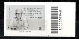 Italia 2020 - Enzo Biagi Codice A Barre MNH ** - Codici A Barre