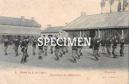 2 Ecole Du 2e De Ligne - Escrime  à La Baïonette - Courtrai - Kortrijk - Kortrijk