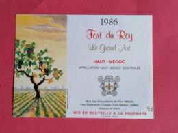 HAUT-MEDOC ETIQUETTE FORT DU ROY  LE GRAND ART 1986                          /13/08/20 - Bordeaux