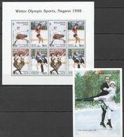 OLIMPICS GAMES NAGANO 1998  ICE DANCING  FIGURE SKAITING 1998 S/sheet SHEET=12,50 EURO - Figure Skating