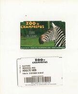 Ticket Zoo  De Champrepus - Tickets D'entrée