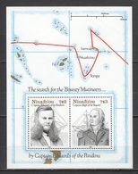 RR110 1991 NIUAFO'OU TRANSPORT SHIPS SEARCH FOR BOUNTY MUTINEERS 1BL MNH - Barche