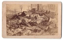 Fotografie Deutsch-Französischer Krieg 1870 /71, Verlassenes Französisches Barackenlager Mont Avron Vor Paris - Guerra, Militari