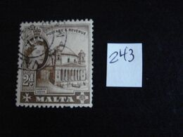 Malte 1956 - Cathédrale De Mosta - Y.T. 243 - Oblitéré - Used - Gestempeld - Malta