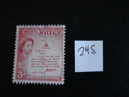 Malte 1956 - Proclamation De 1942 - Y.T. 245 - Oblitéré - Used - Gestempeld - Malta