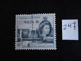 Malte 1956 - Temple Néolithique à Tarxien - Y.T. 247 - Oblitéré - Used - Gestempeld - Malta