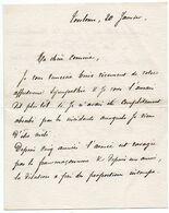 """FRANCS-MACONS, Correspondance Militaire De Toulouse : """"... L'armée Est Ravagée Par La Franc Maçonnerie ... Délation ..."""" - Historische Dokumente"""