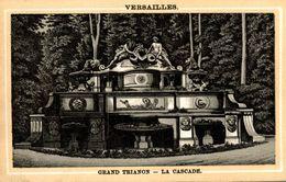 CHROMO AUX CISEAUX D'ARGENT JACQUET A ISSOUDUN VERSAILLES GRAND TRIANON LA CASCADE - Kaufmanns- Und Zigarettenbilder