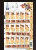 Belgie 2001 2996 Tour & Taxis DUOSTAMPS Gepersonaliseerde Zegels Full Sheet MNH Ludo De GROOF RR - Private Stamps